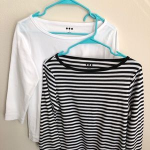 Pair of Three Dot Boatneck Cotton T-shirt's.
